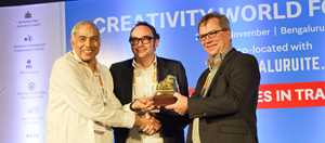 cwf2016_web_sliderjpg - Kim Kofod Hansen, Director of Regional Development, Central Denmark Region, Pascal Cools, Director of Districts of Creativity and Professor Khincha, Bangalore Innovation Council, official host of CWF2016